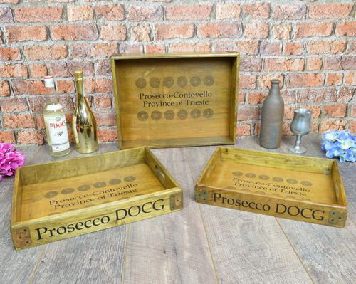 Set of 3 Small Prosecco Trays